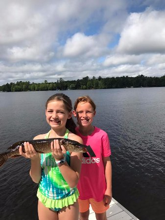 Eagle River, WI: Great Fishing Off the Docks