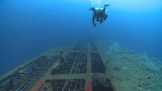 Mactan Island, Filipinas: San Juan wreck Port Side