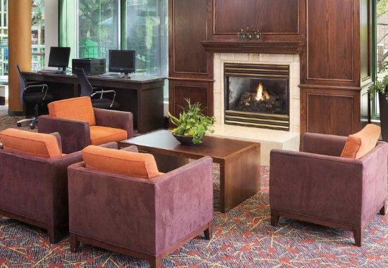 Edina, MN: Lobby Fireplace