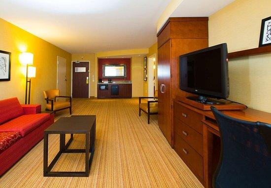 Warner Robins, Джорджия: King Suite Living Area