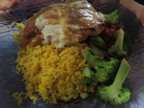 Rutherford, NJ: Sauteed chicken breast with marsala glaze and melted mozzarella