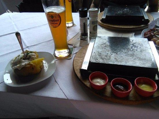 Weingarten, Alemania: Patata al forno con Quark.