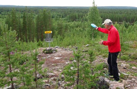 Pello, فنلندا: Naamivaara Disc Golf in Pello in Lapland: general view