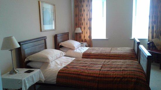 Llanfair, UK: Twin room with beautiful views .