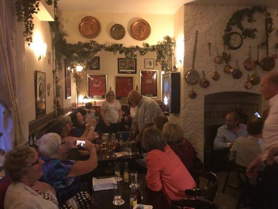 Montgomery, UK: Wonderful happy local party