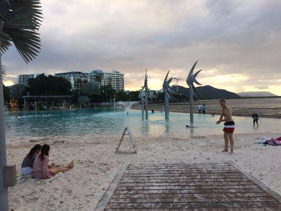 Cairns Esplanade Swimming Lagoon: Pool at dusk
