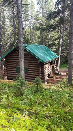 Arrowhead Lodge: Old cabins offer rustic charm...