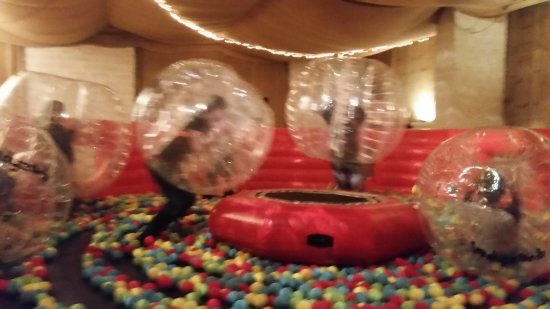 Forres, UK: Body Zorbing on The Arena