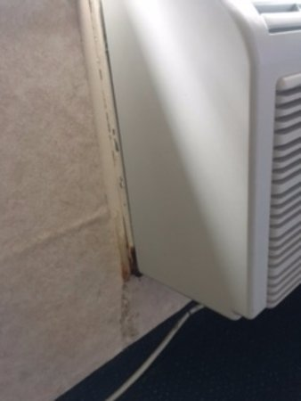 Town & Country Resort Motor Inn: Mold near the air conditioning unit