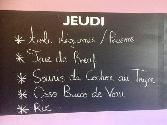 La Garde, Frankrike: Menus differents chaque jours