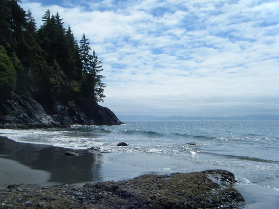 Sooke, Canadá: It's hard to beat this view while sitting and eating lunch in the sun.