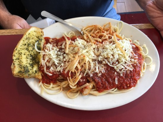 Cornish, ME: Chicken parmigiana with linguini and Stuffed Shells
