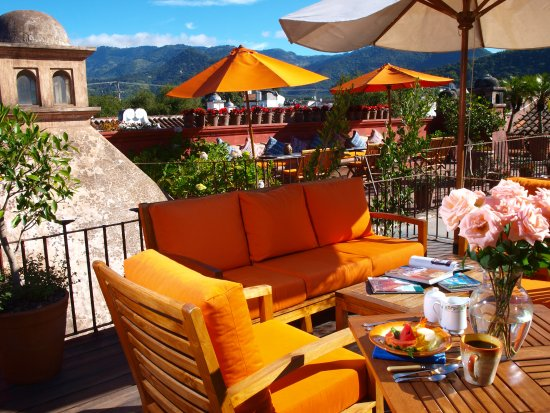Posada Del Angel: The Terrace, where you will have an amazing view