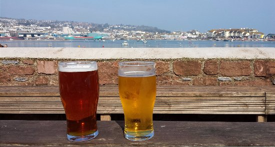 Shaldon, UK: View from Ferry Boat Inn beer garden
