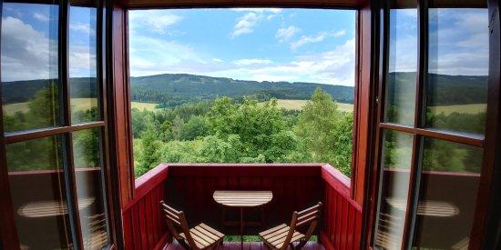 Destne, Repubblica Ceca: Alfa Resort výhled z rodinného apartmá