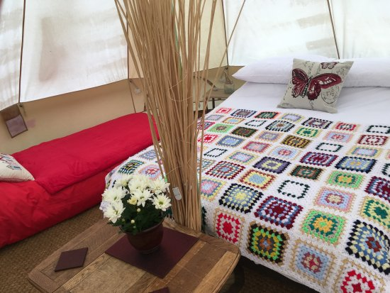 Breage, UK: Inside Daisy Bell Tent