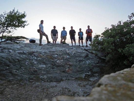 Greensboro, NC: Sunset hike at Hanging Rock