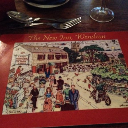 The Wendron New Inn: Great place mats