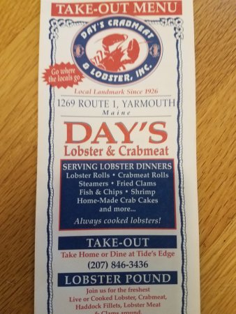 Days Crabmeat and Lobster: Here's Day's!