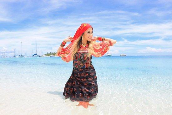 Las Cumbres, Panama: Isla Wissudub conocida también como Isla Chichime con la amiga Marissa