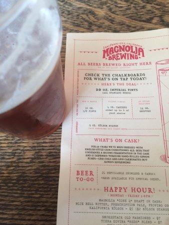 Magnolia Pub & Brewery : Happy Hour menu.