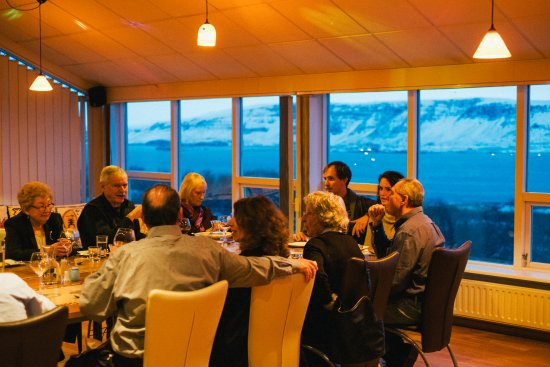 Akranes, Island: The night before the wedding, those are the views from all the dining areas.