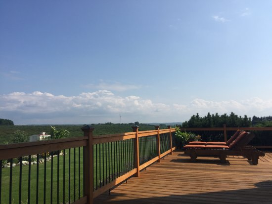 Williamsburg, MI: Extensive deck for relaxing morning or evening