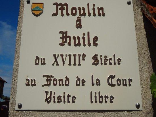 Mittelbergheim - Moulin à huile (plaque entrée)