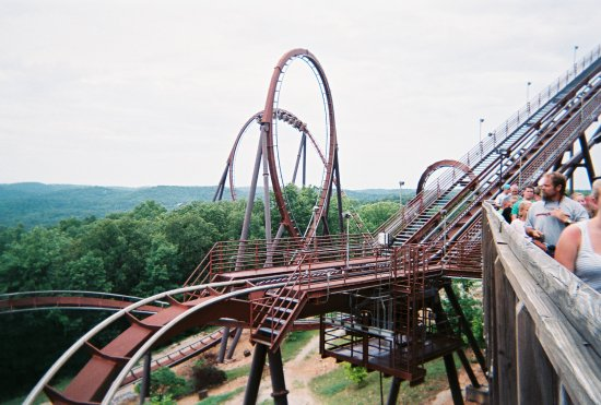 Branson, MO: My favorite ride at Silver Dollar City, Wildfire!