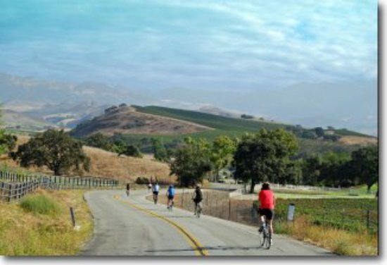 Santa Barbara Wine Country Cycling Tours: View of the San Rafael Mountains