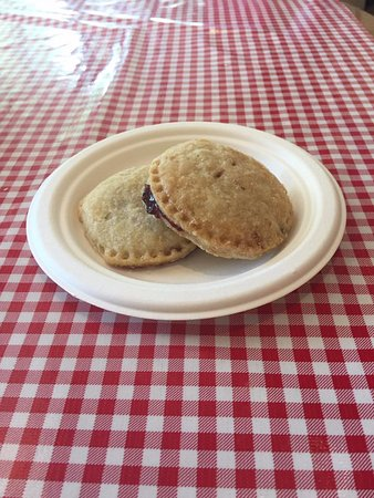 Stockholm, WI: Pie Cookies. A double-crusted mini fruit pie with the same divine crust as the full-sized pies.