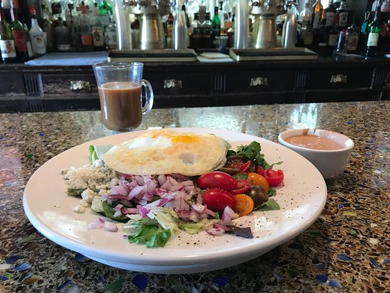 Saratoga Hot Springs Resort: MoniHampton Breakfast Salad on a Monday afternoon (add an egg on top of the chopped salad, no ba