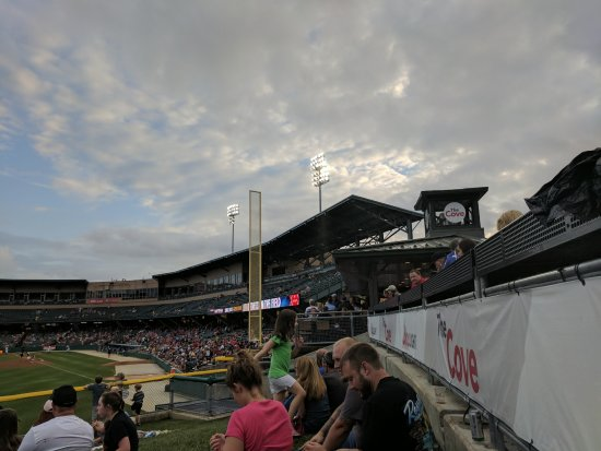 Victory Field: Third base side lawn seats