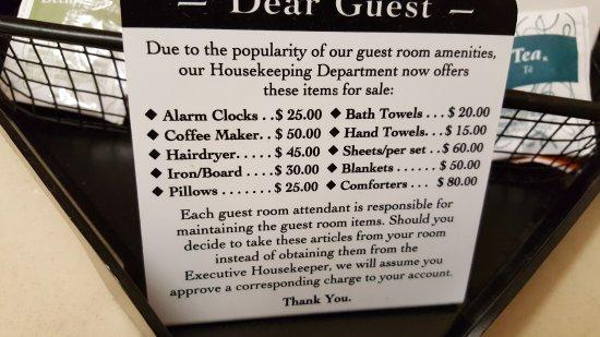 Comfort Inn & Suites Eastgate: rude sign