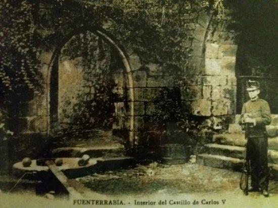 Parador de Hondarribia: Foto patio interioro del Parador comienzos siglo XX