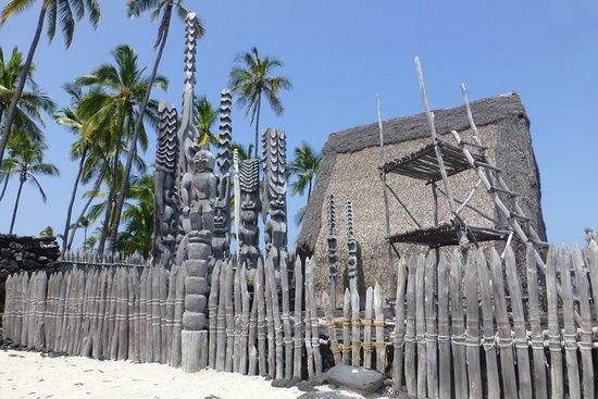 Honaunau, ฮาวาย: Carvings