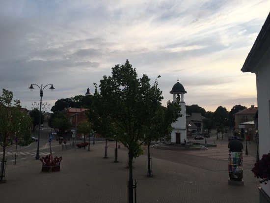 Calm summer evening in Telsiai