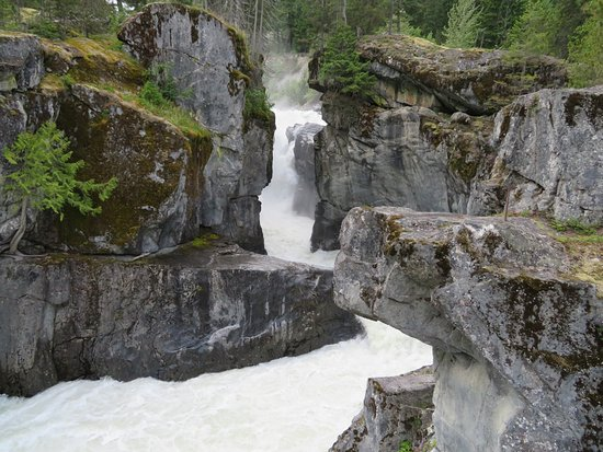 Pemberton, Canada: The first stage of the falls