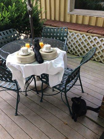 Louisa, Virginie : Breakfast is served!