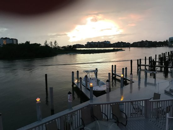 The Boat House Motel: taken from the balcony at the end of the day
