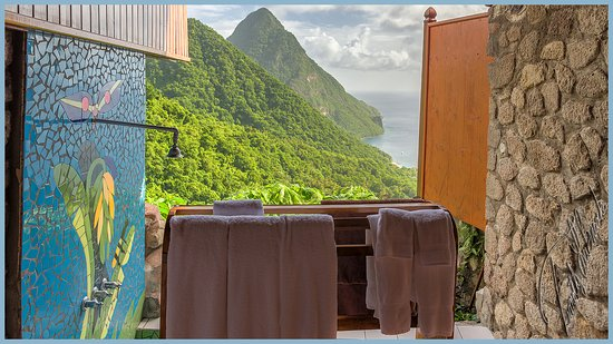 Ladera Resort : Best view in the world for an outdoor shower.