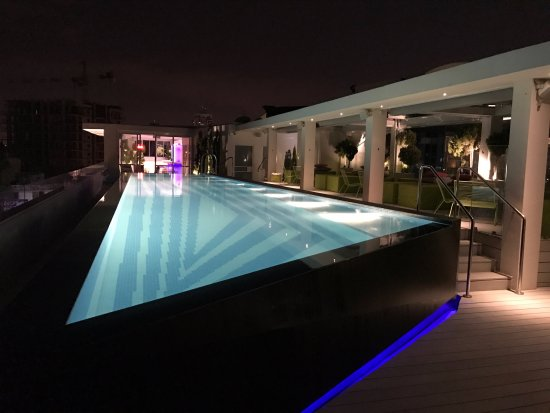 The Pool At Night Picture Of The Poli House By Brown Hotels Tel Aviv Tripadvisor
