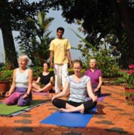Kanjirappally, Indien: yoga and meditation class