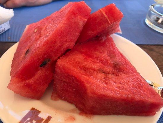Aeolian Gaea Hotel: Verdens beste vannmelon