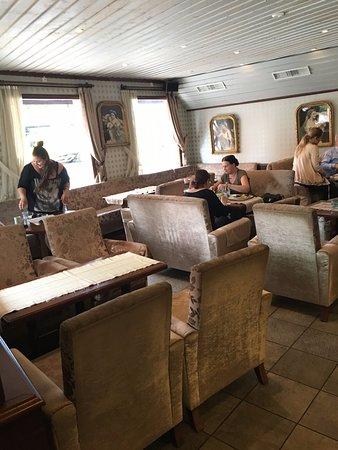 Café Linné Konstantina: Del av inredningen på övervåningen