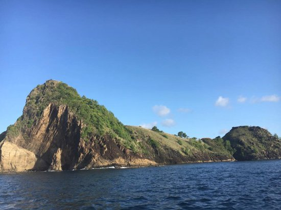 Cap Estate, Sta. Lucía: the view from the sunset cruise (which happens once a week and is included in the price of the h
