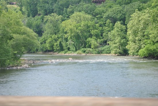 Hot Springs Resort and Spa: French Broad River, Hot Springs, NC