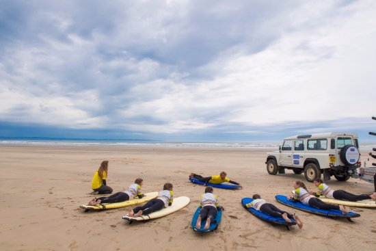 Surf Safari at Saunton = Even on the busiest of days you'll learn to surf away from the crowds!