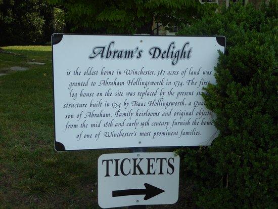 Abram's Delight: Sign