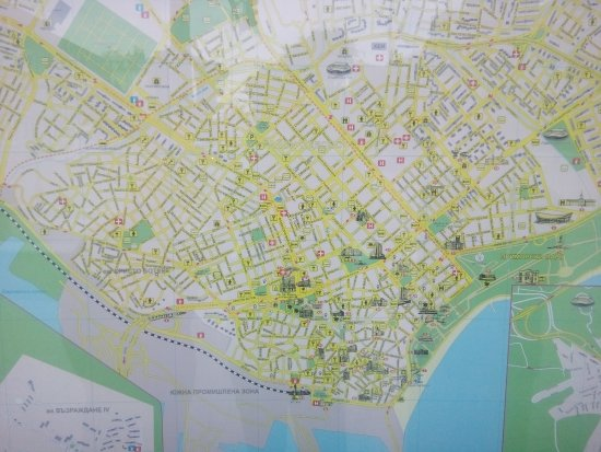 City Map Near The Tourist Info Center Picture Of Tourist - Varna map